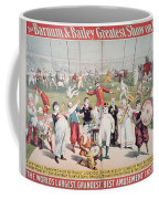 Poster Advertising The Barnum And Bailey Greatest Show On Earth Coffee Mug