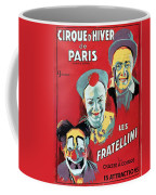 Poster Advertising The Fratellini Clowns Coffee Mug