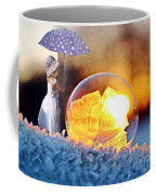 Girl With Umbrella Coffee Mug