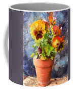 Potted Pansy Pencil Coffee Mug