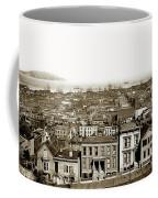 Powell Street Between Sacramento And California San Francisco Circa 1866 Coffee Mug