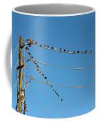Power Line Birds Coffee Mug