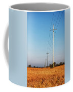 Power Lines At Sunrise Coffee Mug
