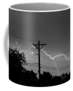 Power Lines Bw Fine Art Photo Print Coffee Mug