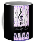 Power Of Music Purple Coffee Mug