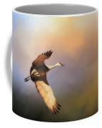 Power Stroke, Sandhill Crane, Bosque Del Apache, New Mexico Coffee Mug