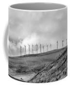Power Wind Turbines  Bw Coffee Mug