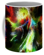 Powwow Dancer Abstract Coffee Mug
