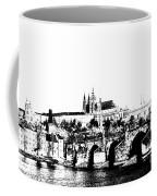 Prague Castle And Charles Bridge Coffee Mug by Michal Boubin