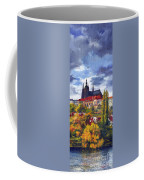 Prague Castle With The Vltava River Coffee Mug