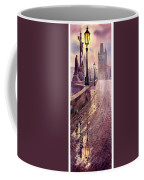 Prague Charles Bridge Night Light Coffee Mug