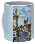 Prague Czech Republic Coffee Mug by Irina Sztukowski
