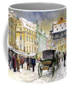 Prague Old Town Square Winter Coffee Mug