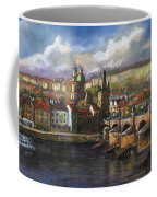 Prague Panorama Charles Bridge Prague Castle Coffee Mug