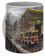 Prague Tram Legii Bridge National Theatre Coffee Mug