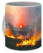 Prairie Burn Sunset In Kansas Coffee Mug