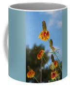 Prairie Cone Flowers Against Blue Sky Vertical Number One Coffee Mug