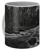 Prairie River Whitewater Black And White Coffee Mug