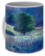 Prairie Trees Impressionistic Grunge Coffee Mug