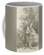 Praying Male Penitent In The Wilderness Coffee Mug