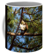 Preening Bald Eagle Coffee Mug