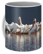 Preening Pelicans Coffee Mug