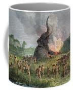 Prehistoric Mammoth Hunt Coffee Mug