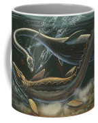 Prehistoric Marine Animals, Underwater View Coffee Mug