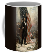 President Abraham Lincoln - American Flag Coffee Mug