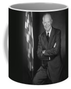 President Eisenhower And The U.s. Flag Coffee Mug