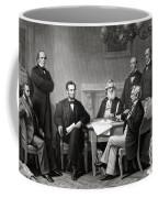 President Lincoln And His Cabinet Coffee Mug