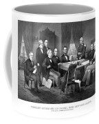 President Lincoln His Cabinet And General Scott Coffee Mug