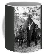 President Lincoln Meets With Generals After Victory At Antietam Coffee Mug