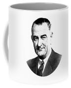 President Lyndon Johnson Graphic - Black And White Coffee Mug