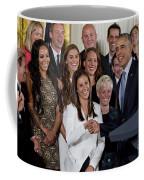 President Obama Honors Us Womens Soccer Team At White House #1 Coffee Mug