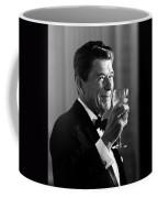 President Reagan Making A Toast Coffee Mug