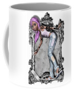Pretty 3d Girl Sneaks Out Of Frame Coffee Mug