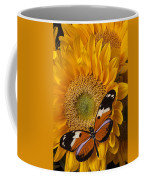 Pretty Butterfly On Sunflowers Coffee Mug