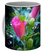 Pretty In Pink Hibiscus Flowers And Buds Coffee Mug