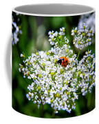 Pretty Little Ladybug Coffee Mug by Mariola Bitner