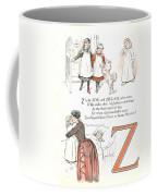 Pretty Name Abc Letter Z Coffee Mug