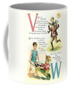 Pretty Name Abc V And W Coffee Mug