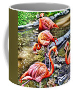 Pretty Pink Flamingos Coffee Mug