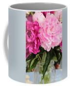 Pretty Pink Peonies In Ball Jar Vase Coffee Mug