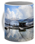 Priest Lake Boat Dock Reflection Coffee Mug