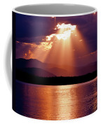 Priest Lake Sunset Heavenly Light Coffee Mug