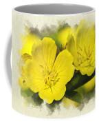 Primrose Flowers Blank Note Card Coffee Mug