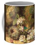 Primroses And Bird's Nests On A Mossy Bank Coffee Mug