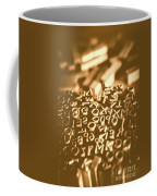 Print Industry Typographic Letters And Numbers Coffee Mug