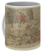 Printed Textile: Genre Scene Coffee Mug